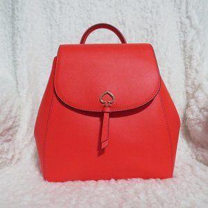 Kate Spade Adel Leather Medium Flap Backpack